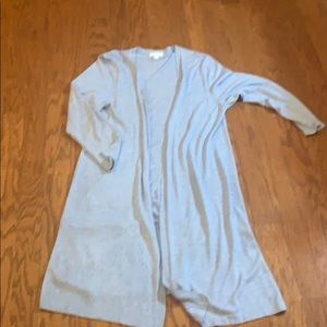 Charter Club light blue duster sweater - XL